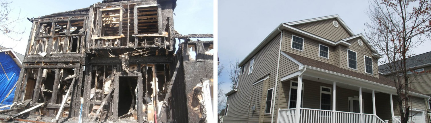 Residential Home Fire Damage Restoration - fire remodel