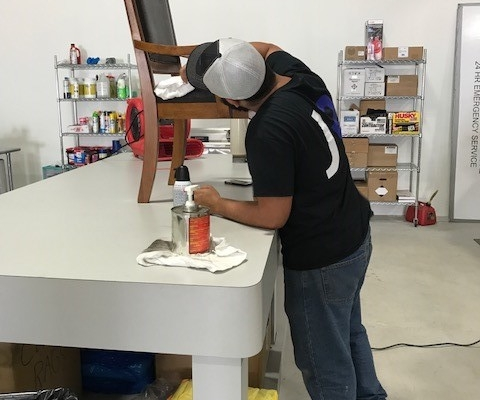 jenkins restorations warehouse cleaning station