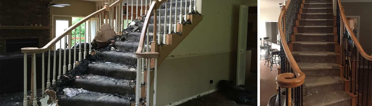 Edsall home Fire Damage Restoration - Before/After