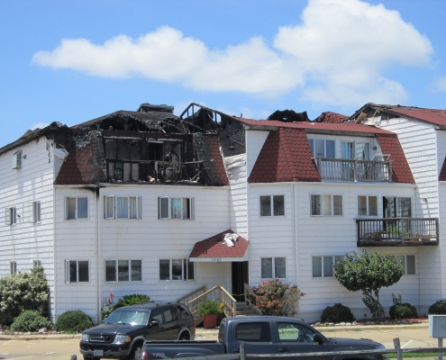 Fire damage Summer Pointe Condo