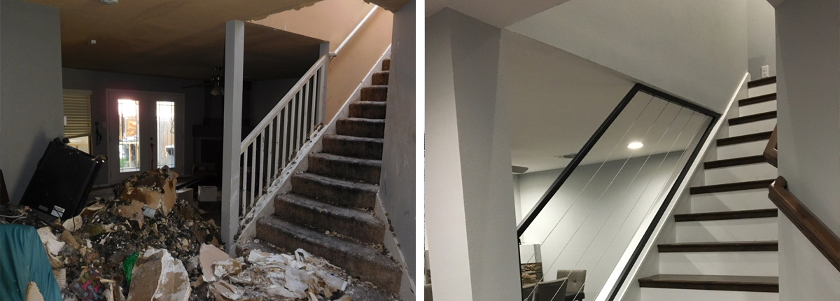 Fire Damage to the staircase