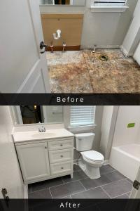 virginia beach water damage bathroom